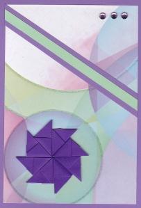Purple tea bag card