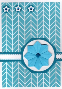Turquoise tea bag card